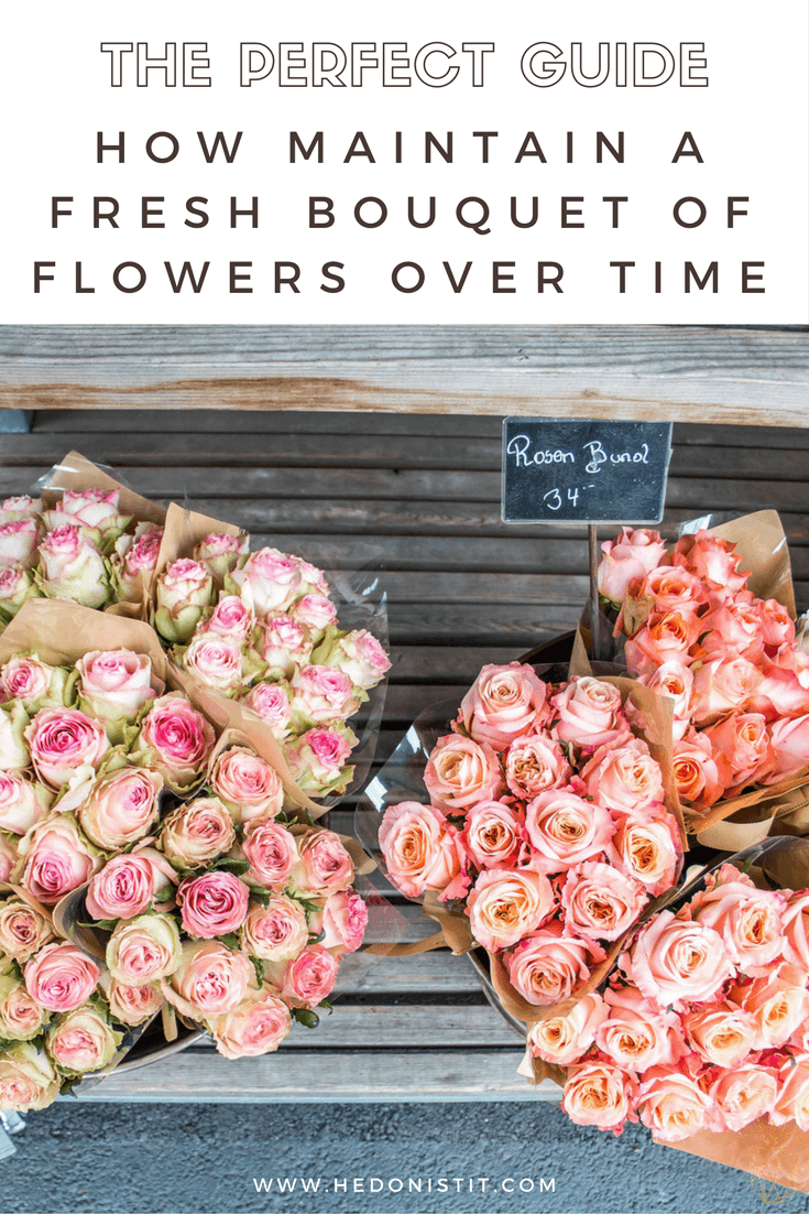 Long-Lasting Flower Bouquet : Get the most of out your Holiday's bouquet this year. Use this tips & tricks to keep your flowers fresher for longer + learn one easy trick that will help you arrange your flowers in a vase like a pro. Click through to read the full article @ www.hedonistit.com