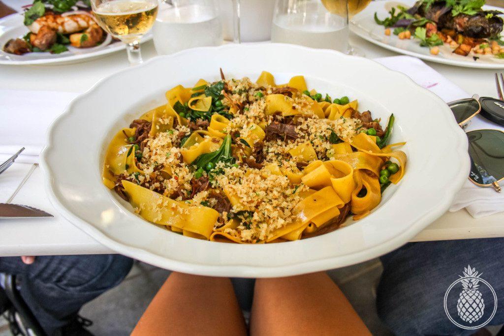 מסעדת פאסטל מוזיאון תל אביב - פפרדלה רגו טלה בבישול ארוך