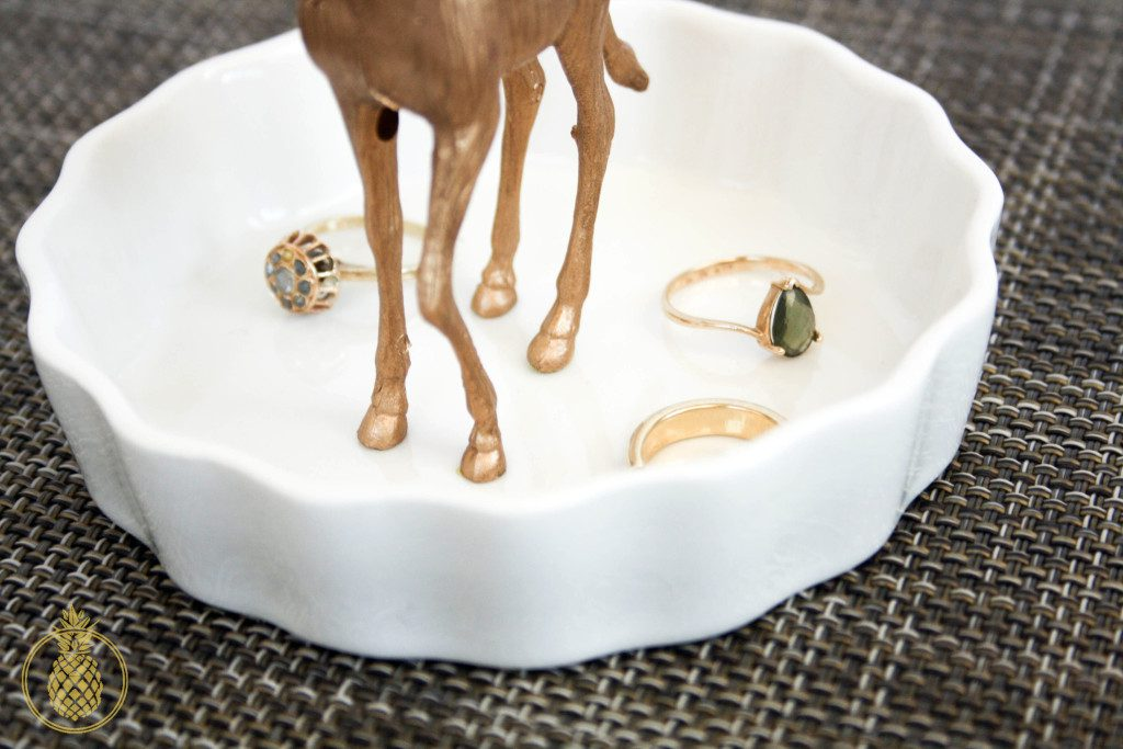 GOLDEN ANIMAL RING DISH DIY