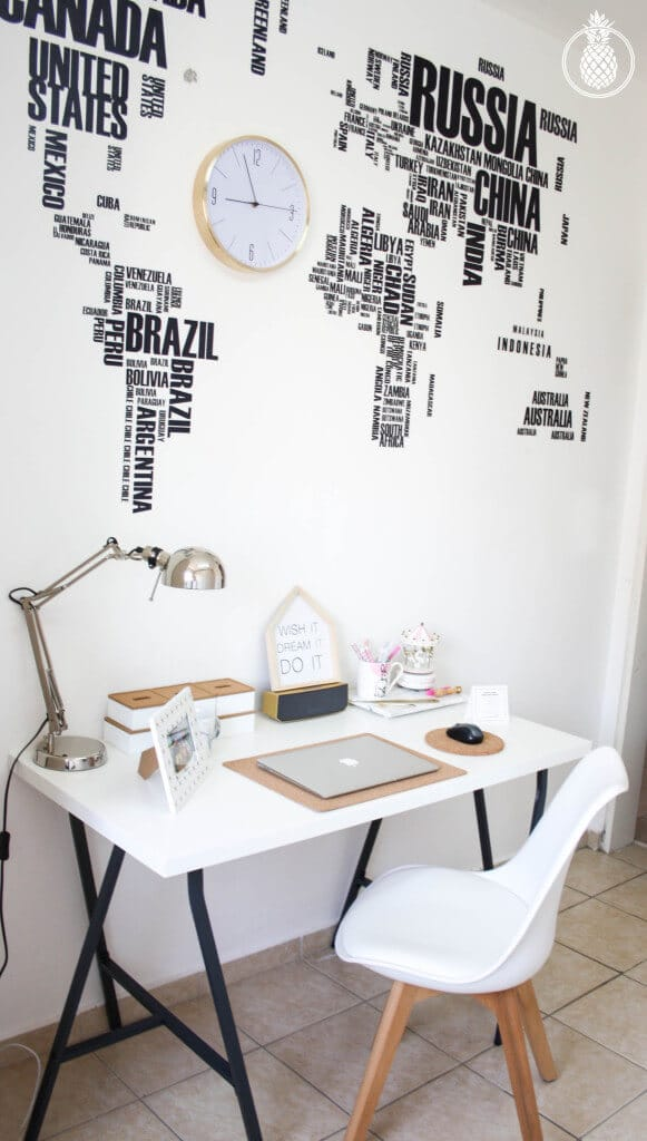 my new blogger's office \ office on a budget \ stylish \ pink whit gold \ cute \ משרד ֿ// עיצוב // סטיילינג