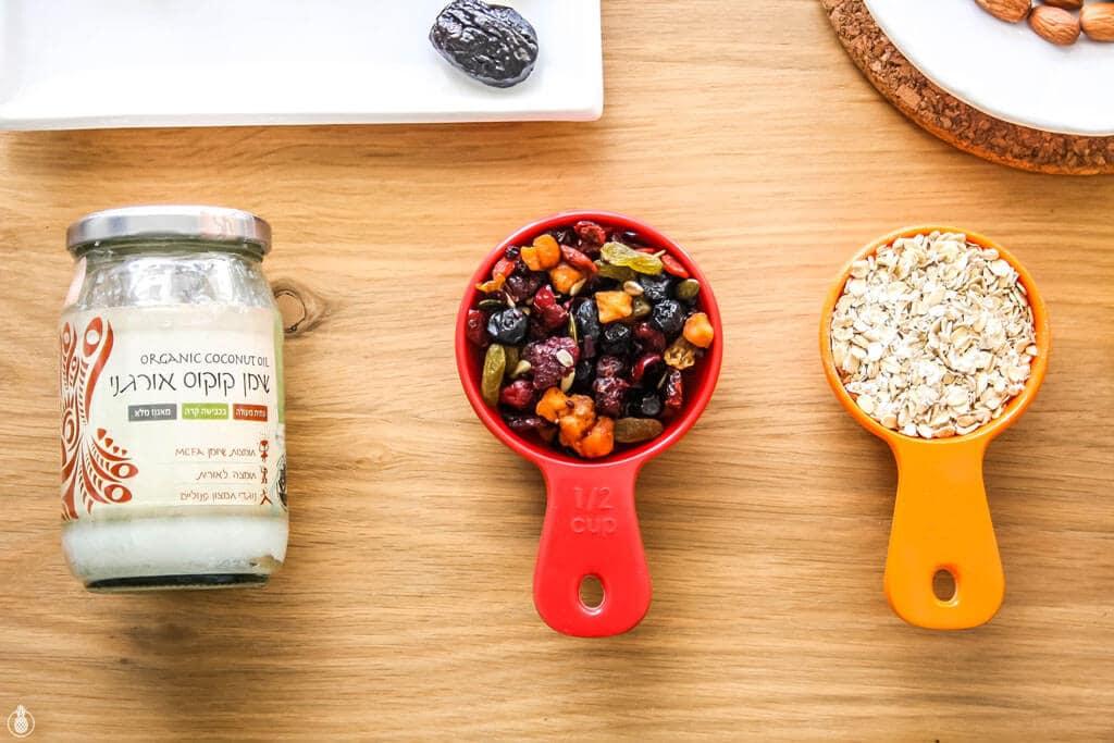 Dried Fruit Healthy HomeMade Energy Bites For Tu Be'Shvat || חטיפי אנרגיה סופר בריאים לכבוד חג הפירות היבשים - ט״ו בשבט