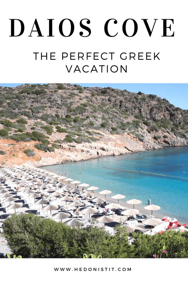 Luxury resort with beautiful beach in Crete : Daios Cove Resort in Greece | Travel destinations to add to your bucket list. Click through to see the full guide on hedonistit.com