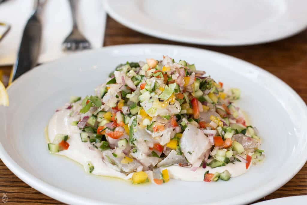 Ceviche - Best restaurants In Tel Aviv, Israel - Cafe Noir in Tel Aviv Business menu review | Where to eat great food in Israel | food guide to Israel | Israel travel guide for foodies | Visit us @ hedonistit.com for more! קפה נואר