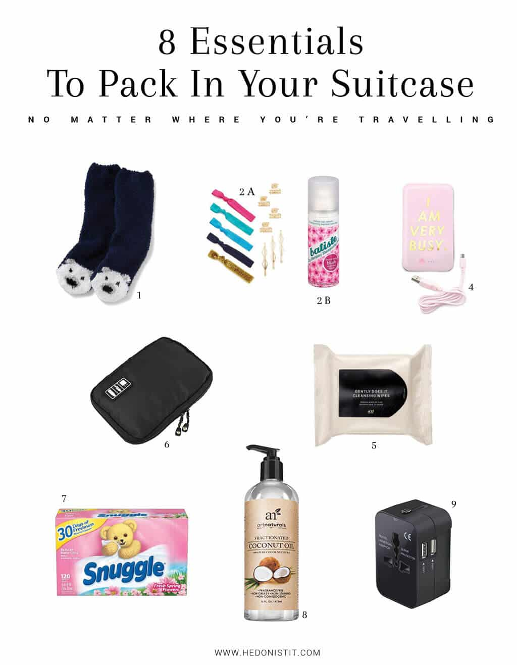 8 essentials to pack in your suitcase no matter where you're travelling - if your about to pack tour suitcase for another beautiful travel destination don't forger to pack these 8 essentials