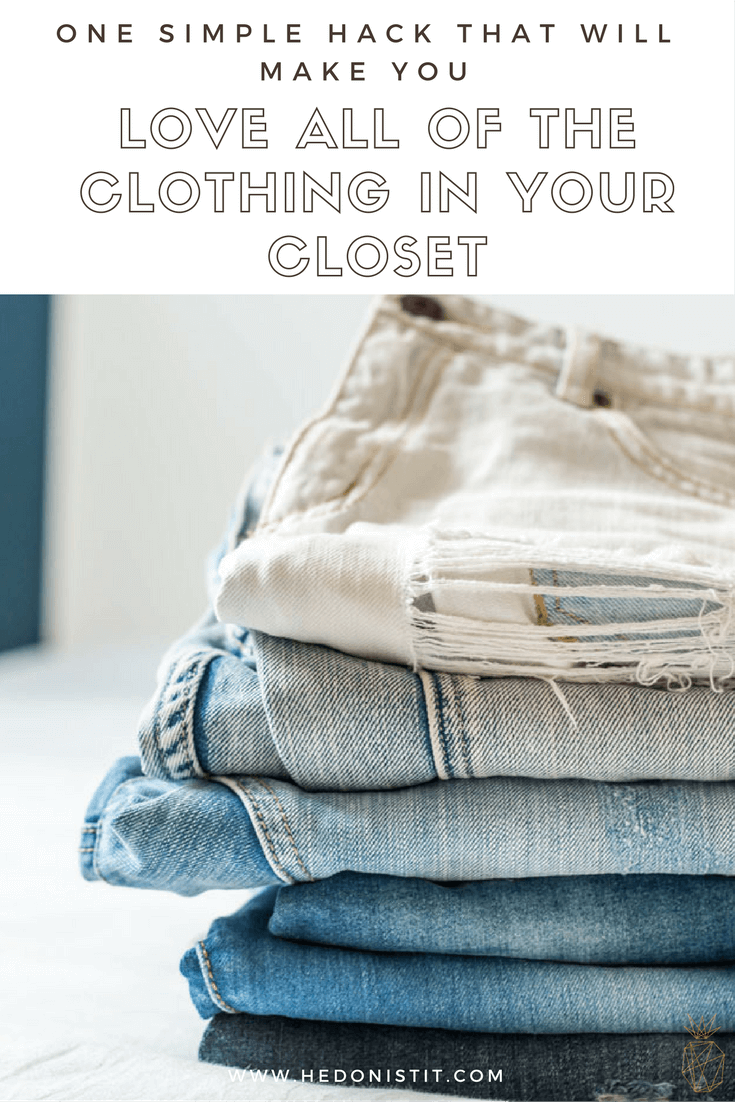 Make the most of closet space with this winning method : DIY closet organization hack that will make you LOVE all of the clothing in your closet! Click through to read more @ www.hedonistit.com