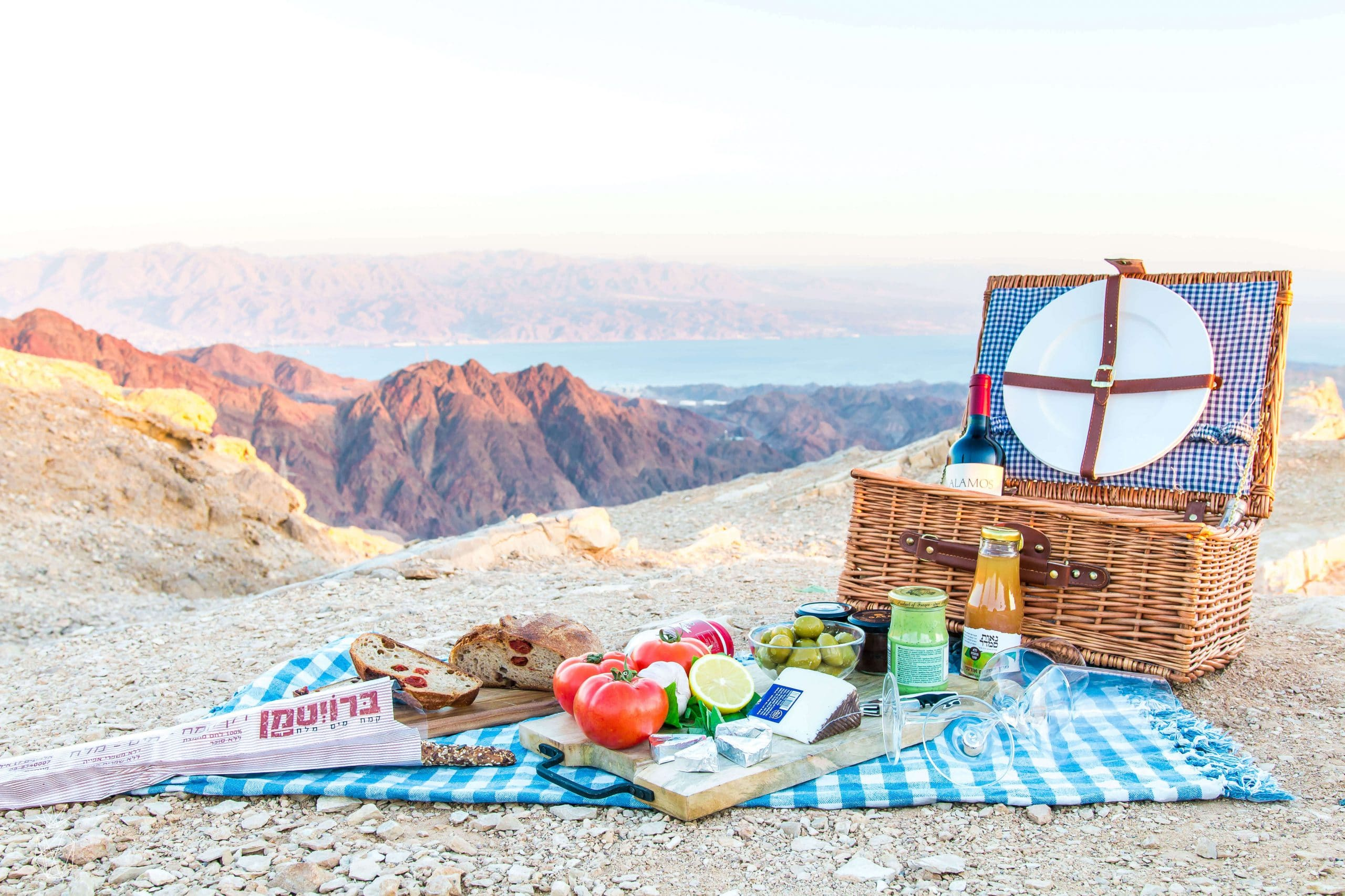 The perfect picnic at Eilat Mountains