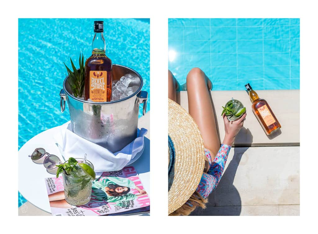 Cocktails By The Pool: Two easy recipes for summer cocktails - Honey Mint Whiskey Mojito & Vine Smoothies! Just pour, mix and sip at your next pool party!
