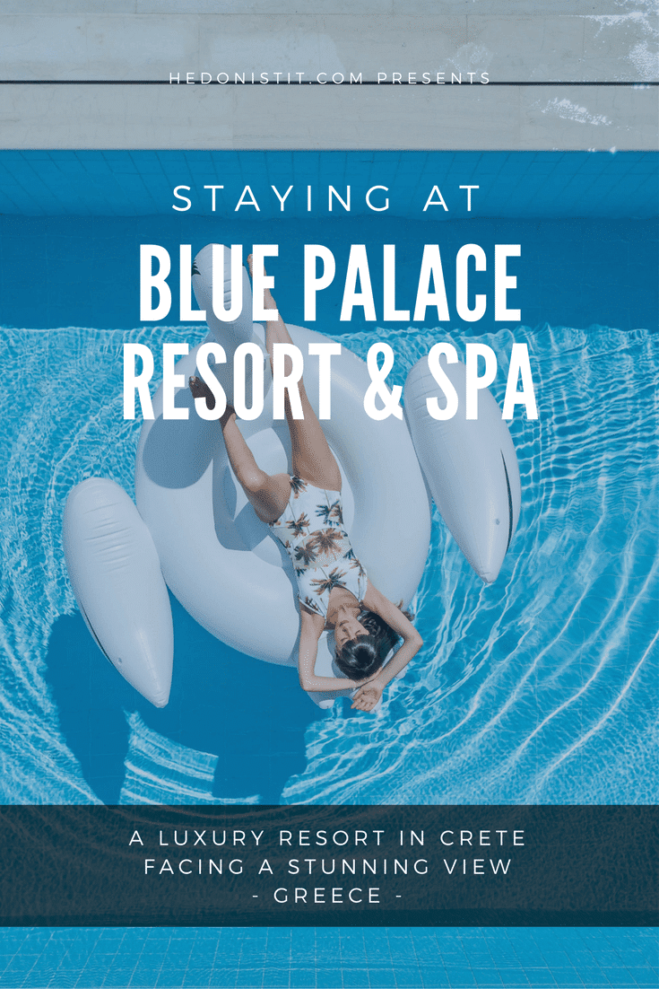 The Blue Palace Spa & Resort in Crete , Greece is a dream-like luxury palace that is one of the best places for a couples or family vacation!