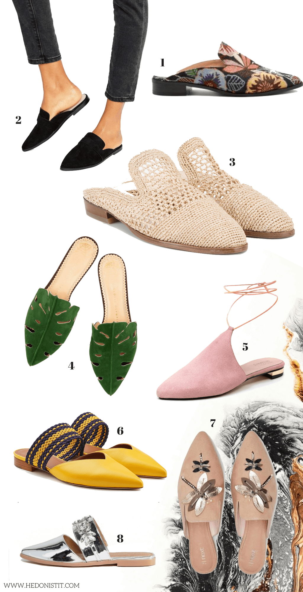 Editor's pick - top 8 Mule shoes for the summer | backless slips | summer 2017