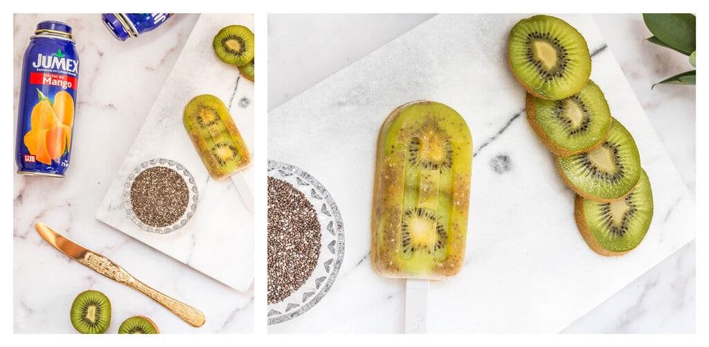 מתכון לארטיק גורמה ביתי מושלם לקיץ החם - ארטיק מנגו צ׳יה וקיווי