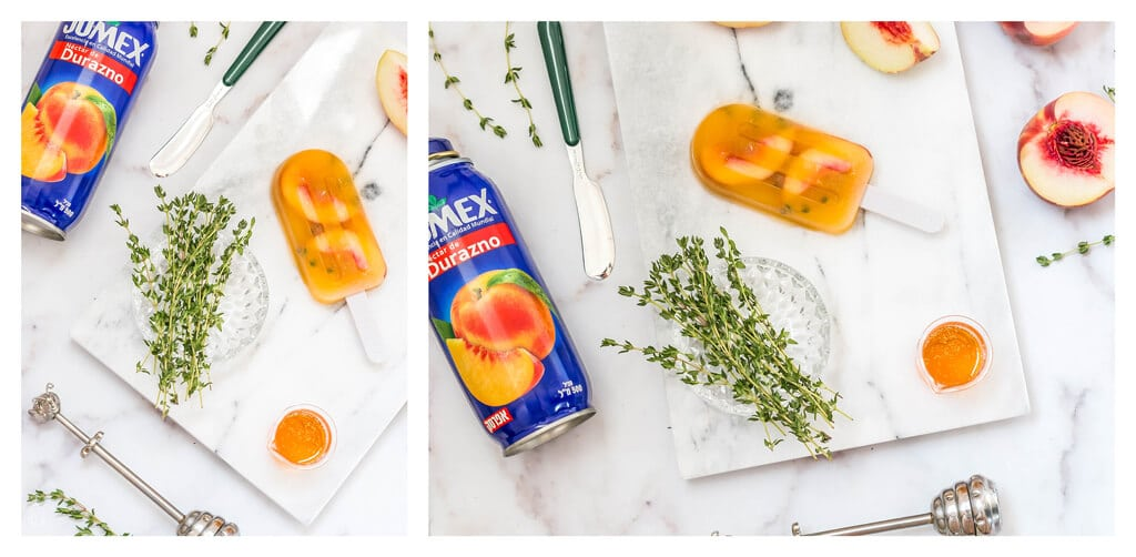 מתכון לארטיק גורמה ביתי מושלם לקיץ החם - ארטיק אפרסק דבש וטימין