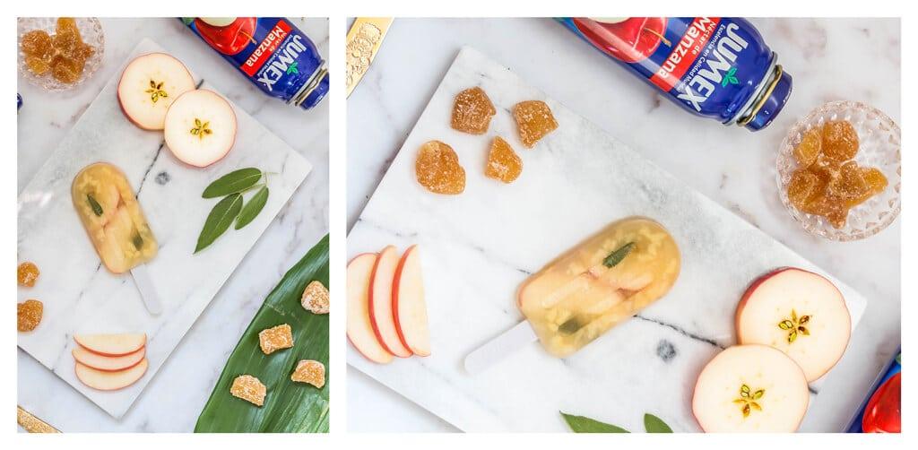 מתכון לארטיק גורמה ביתי מושלם לקיץ החם - ארטיק תפוח ג׳ינג׳ר ומרווה