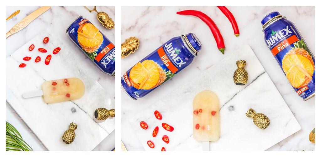 מתכון לארטיק גורמה ביתי מושלם לקיץ החם - ארטיק אננס וצ׳ילי אדום