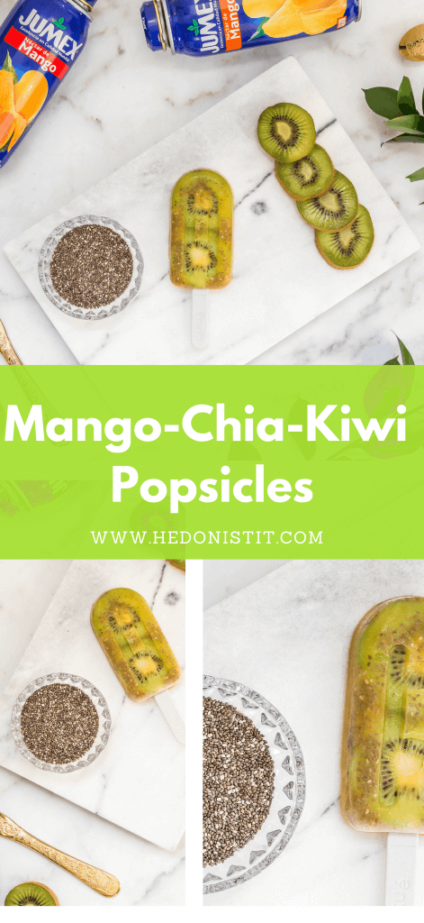 Cool off during the summer with these homemade, healthy & easy to make mango chia and kiwi gourmet popsicle recipes