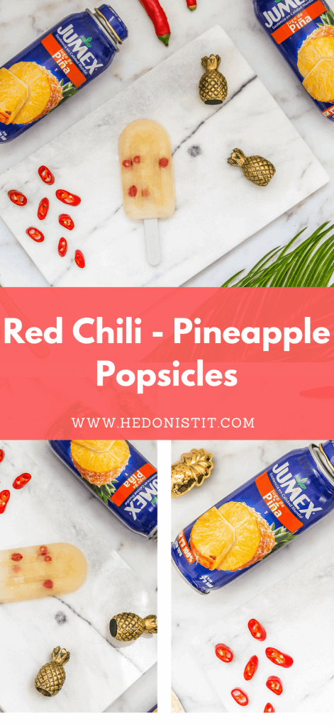 Cool off during the summer with these homemade, healthy & easy to make pineapple and red chili gourmet popsicle recipes