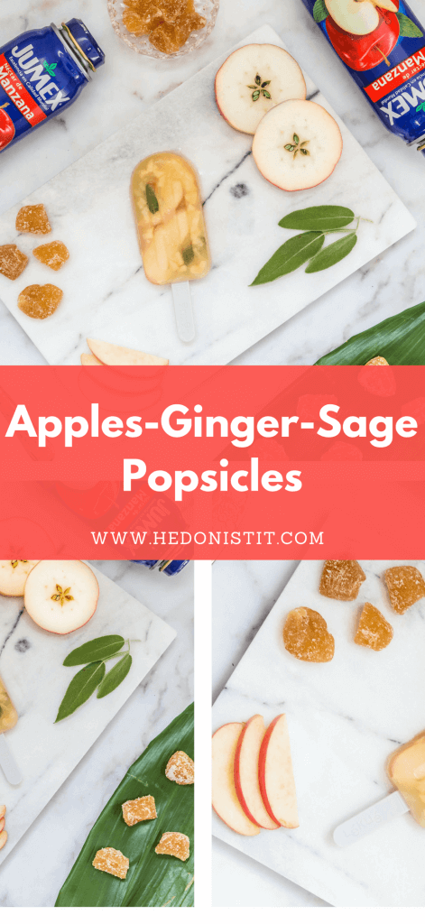 Cool off during the summer with these homemade, healthy & easy to make apple ginger and sage gourmet popsicle recipes