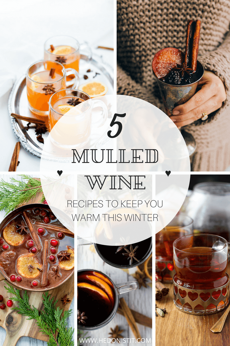 5 variations for the good ol' winter favorite - the mulled wine! Click through for my picks of the comforting winter drink