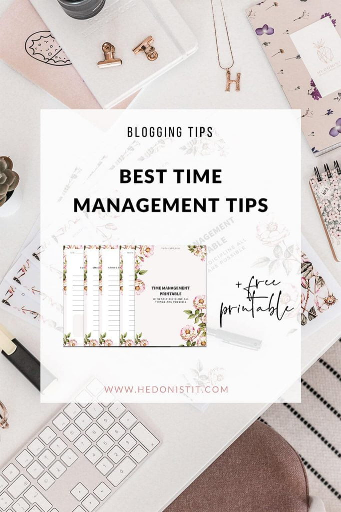 Click through to get the best productivity tips for bloggers and entrepreneurs + Get a free time management printable!