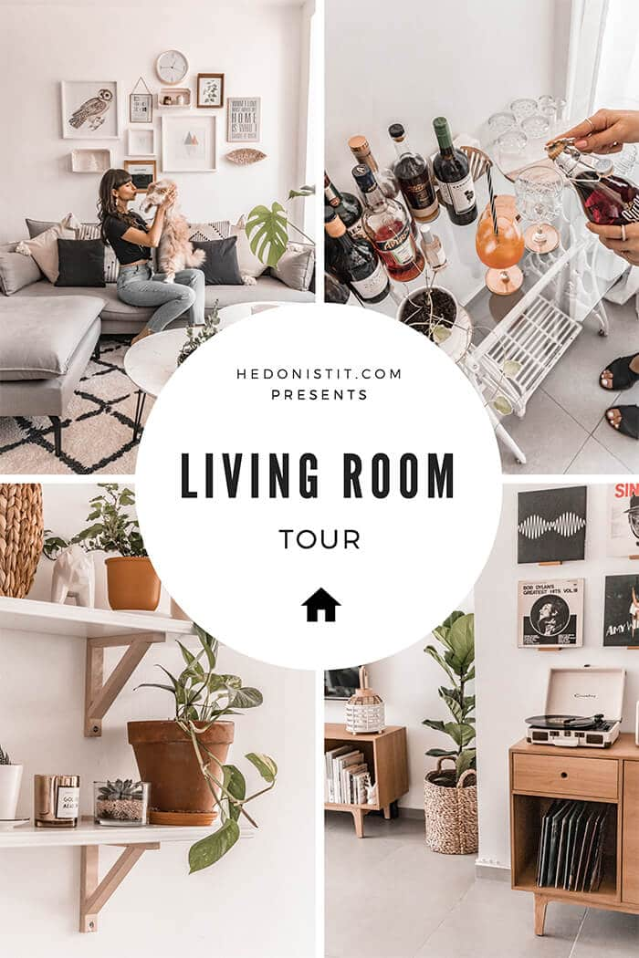 Hedonistit living room tour - eclectic nordic urban jungle home styling